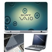 FineArts Laptop Skin 15.6 Inch With Key Guard Screen Protector - Sony Vaio Blue Circle