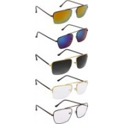 NuVew Wayfarer Sunglasses(Clear, Green, Blue, Red, Golden, Black)