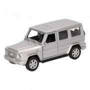 Mercedes Speelgoed zilveren Mercedes-Benz G-Class speelauto 12 cm