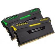 Corsair Vengeance RGB led 32Gb(16Gbx2) DDR4-2666 (pc4-21300) CL16 1.2v Desktop Memory Module with black heatsink
