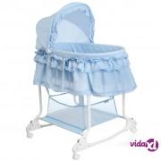 Little World 2-u-1 Ljuljajući Krevetić 85x70x110 cm Plavi LWFU002-LBL