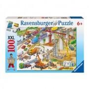 Puzzle Teren De Constructii, 100 Piese