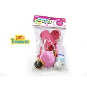 Little Treasures 2 in 1 Munching Food Playset - The mini Kitchen serving set includes pretend play Vegies and serving Utensils great for Girls playtime