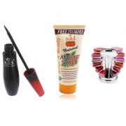 ADSwaterproof eyeliner / scrub (50gm) / Lipgloss Palette (12 colors)