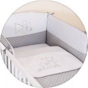 Sängkläder och spjälskydd, 3 delar - Pappa Björn