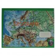 Caiet Geografie Format A4, 24 File, Dictando + Veline - Tip Special de Caiet Scolar
