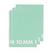 HEMA 3-pak Collegeblokken A4 Geruit 10 Mm