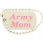 "U.S. ARMY ""ARMY MOM"" DOG TAG LAPEL PIN"