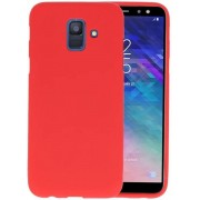 BackCover Hoesje Color Telefoonhoesje Samsung Galaxy A6 2018 - Rood