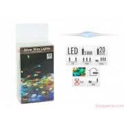 20 LEDes elemes világító színes drót fényfüzér 105 cm