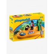 9119 Ilha dos Piratas, 123 Playmobil castanho medio liso com motivo