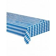 Mantel bávaro a cuadros azul y blanco 260 x 80 cm Única