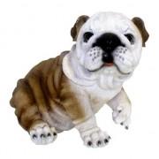 Merkloos Beeldje Engelse bulldog hond 25 cm