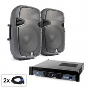 "Electronic-Star PA Set ""SPJ Boom 15"" комплект 38cm високоговорители & усилвател 1500W (PL-7577-21667)"