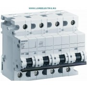5SP4492-7, Siguranta automata tetrapolara 125A, 4 Poli, Siemens, 10kA, curba C