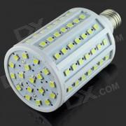E27 15W 1500lm 6500K 102 x SMD 5050 LED bombilla de luz blanca - Blanco + Plata (AC 220 ~ 240V)