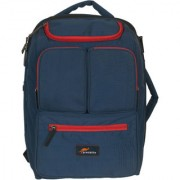 Protecta Organised Chaos XL Convertible Laptop Backpack/Briefcase for Laptops with Screen Size up to 15.6 inch (Navy & Red)