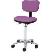 Taburete Kinefis Tipo Cadeira Elite com Respaldo Estofado em Skay Excellent, Elevação a Gás, Altura Standard (Cores Disponíveis)