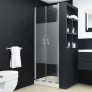 vidaXL Uși cabină de duș, jumătate mat, 70 x 185 cm, ESG
