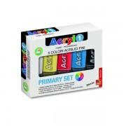 Tempera acrilica Primo, 5 culori/set