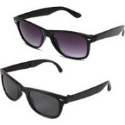 Ansh Fashion Wear Wayfarer Sunglasses(Green, Black)