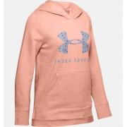 Under Armour Girls' UA Rival Print Fill Logo Hoodie Pink YSM