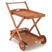 Barek Ogrodowy Drewniany Wózek Serwisowy Barowy