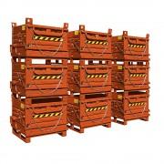 Klappbodenbehälter 1 Bodenklappe, Stahlwände Volumen 0,78 m³