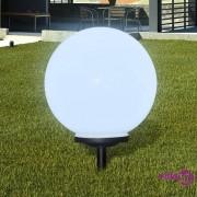 vidaXL Vanjska solarna LED lampa lopta 40 cm 1 kom sa šiljcima za zemlju