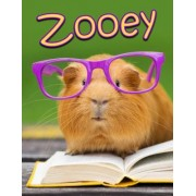 """Zooey: Personalized Book with Name, Journal, Notebook, Diary, 105 Lined Pages, 8 1/2"""" X 11,"""" Birthday, Friendship, Christmas"""
