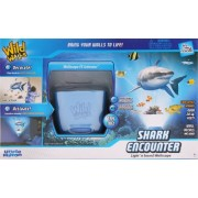 Uncle Milton Shark Encounter Wild Walls Light and Sound Room Decor, Blue