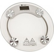 Qoibito Personal Health Human Body Weight Machine 2003A Round Glass Weighing Scale(White)