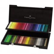 Creioane colorate FABER-CASTELL Polychromos 120 buc/set, cutie lemn, FC110013