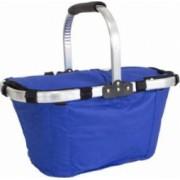 Cos picnic izolat termic cu maner pliabil dimensiuni 44x22x28cm culoare Albastru