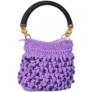 Adrish Creative Saveo Purple, Black Hand-held Bag