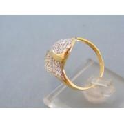 Zlatý dámsky prsteň žlté zlato množstvo zirkónov DP57392Z