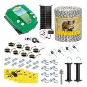 Pachet gard electric complet 1000 m, 4,5 Joule, cu sistem solar, pentru animale sălbatice
