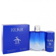 Original Penguin Ice Blue Eau De Toilette Spray 3.4 oz / 100.55 mL + Deodorant Stick 2.75 oz / 81.33 Gift Set Men's Fragrances 5