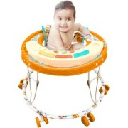 suraj baby orange color musical walker for your kids se-w-50