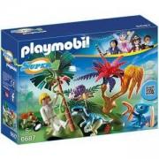 Комплект Плеймобил 6687 - Изгубеният с извънземно и велосираптор - Playmobil, 291292