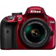NIKON D3400 + 18-55mm AF-P DX VR vermelha