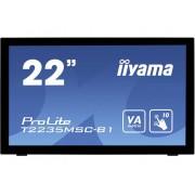 Iiyama T2235MSC-B1 Touchscreen monitor 54.6 cm (21.5 inch) 1920 x 1080 pix 16:9 6 ms USB, VGA, DVI, DisplayPort VA LED