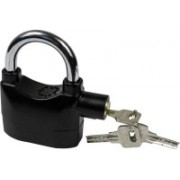 MobFest Anti-Theft Padlock Security System Door Motor Bike Bicycle 120dB Safety Lock(Black)
