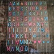 Färgglada bokstäver till Lightbox