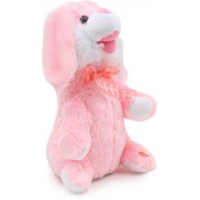 Dancing & Singing Plush Rabbit CUTE DANCING RABBIT SINGING MUSIC PLUSH SOFT TOY Rabbit Ears, Hands Moves Up down PREMIUM QUALITY Fluffy Bunny - Pink