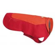 Vert vízálló, bélelt piros kutyakabát XS méret