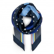 Фишу TORY BURCH - Broken Logo Dot Neckerchief 70390 Tory Navy 405