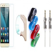 Lenovo Vibe P2 0.3mm Curved Edge HD Flexible Tempered Glass with Nylon Micro USB Cable and 3.5mm Metal Aux Cable