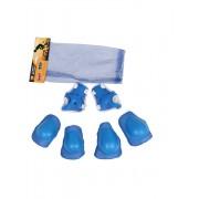 Set echipament de protectie pentru copii fete/baieti Albastru
