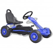 vidaXL Pedal Go-Kart with Pneumatic Tyres Blue